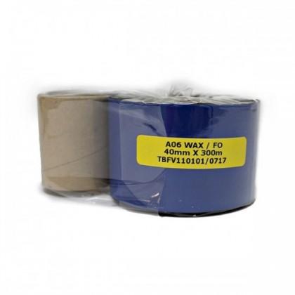 Wax Barcode Ribbon 40mm × 300m (F/O)